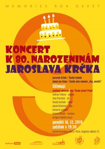 Koncert k 80. narozeninám Jaroslava Krčka